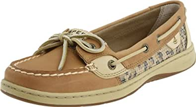 Sperry Top-Sider Women's Angelfish Shoe,Linen/Leopard,5 M US