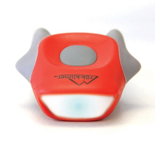 Mini Fluke White LED Bike Headlight - Red