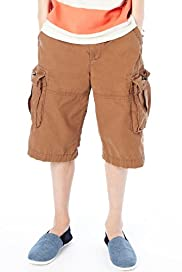 Pure Cotton Adjustable Waist Cargo Shorts