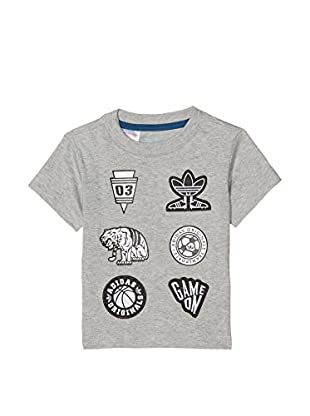 adidas Camiseta Manga Corta I Soccer (Gris)