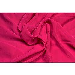 Aagaman Fashions Chiffon Fabrics (TSFDY31_Magenta)