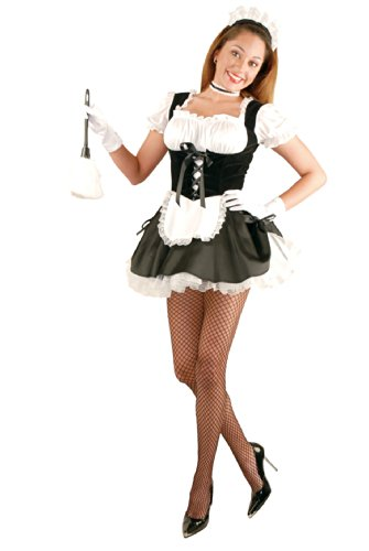 Fi-Fi French Maid Costume Sexy French Maid Costume w Petticoat 01751