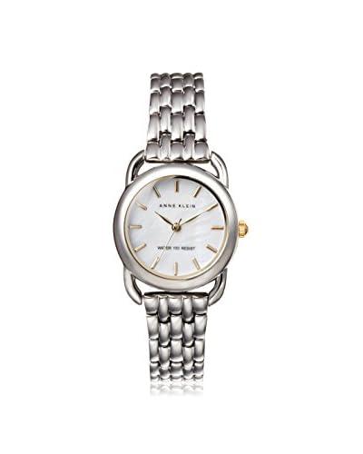 Anne Klein Women's Classic Steel Watch, Silver/White