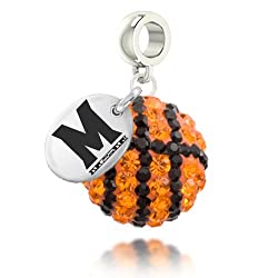 Maryland Terrapins Basketball Drop Charm