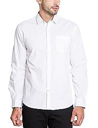 Highlander Men's Casual Shirt (13110001471463_HLSH008950_Medium_White)