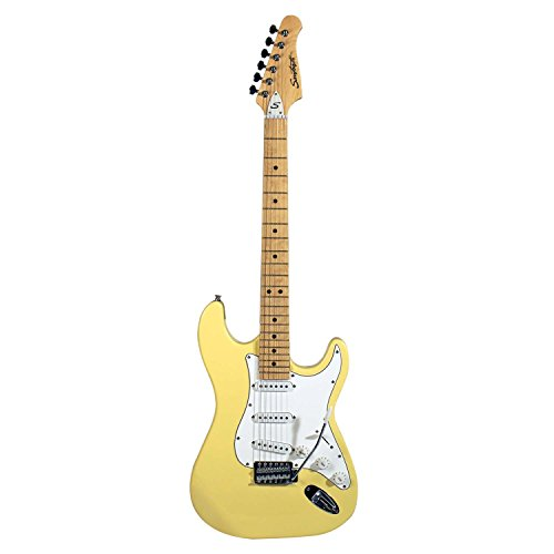 Sawtooth St-Es-Vcw Citron Vanilla Cream Electric Guitar With White Pickguard