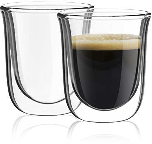 JoyJolt Javaah Double Walled Espresso Cups Glasses, Set of 2 Espresso Glasses 2-Ounce (Glass Espresso Measuring Cup compare prices)