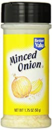 Better Valu Minced Onion, 10.75 Ounce (Pack of 12)