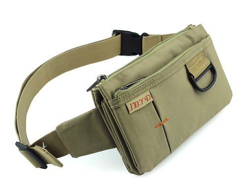 Sport Polyester Stealth Small Running Waist Bag (khaki)