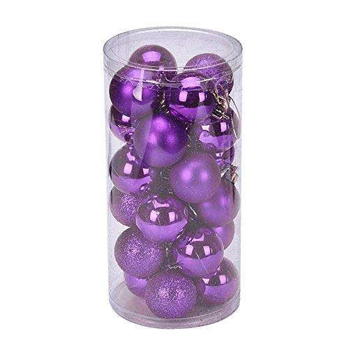 YARBAR Palla Ornamenti di Natale Exquisite palline colorate decorazioni di Confezione Ciondolo 24
