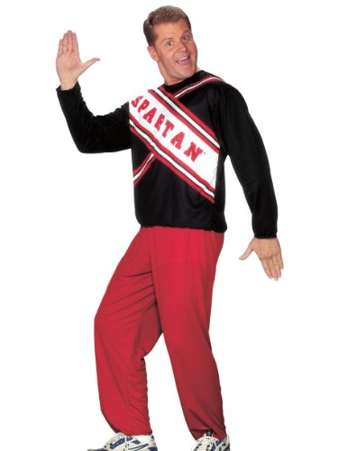 [Cheerleader Spartan Guy Mens Cheerleader Costume Couples Theatre Costumes] (Guy Cheerleader Costumes)