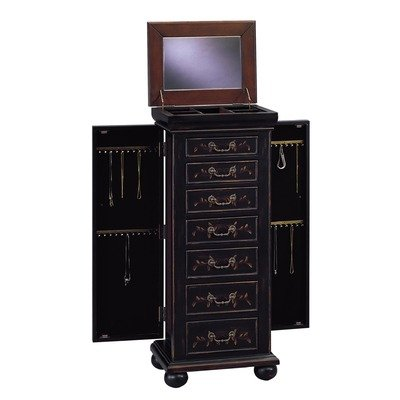 Dark Wood Jewelry Armoire front-1034009