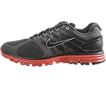 Men Nike Air LunarGlide+ 2 Anthracite / Sport Red 407648-066