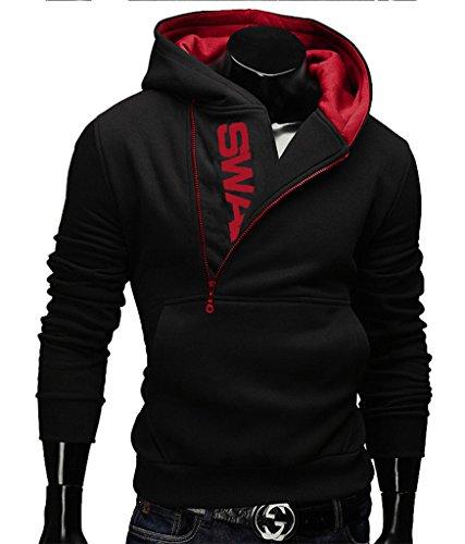 Gillbro Mens novità Color Block cappuccio Cozy Sport autunno Outwear, B, M