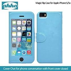 Ahha Arias Magic Flip Case for Apple iPhone 5S / 5 - Blue (A-FPIH5-MA03)