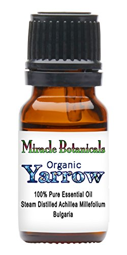 Miracle Botanicals Organic Yarrow Essential Oil - 100% Pure Achillea Millefolium - Therapeutic Grade 10ml