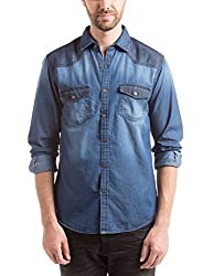 Prym Men's Casual Shirt (8907423015616_2011512007_Medium_Dark Blue)