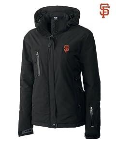 San Francisco Giants Ladies WeatherTec Sanders Jacket Black by Cutter & Buck
