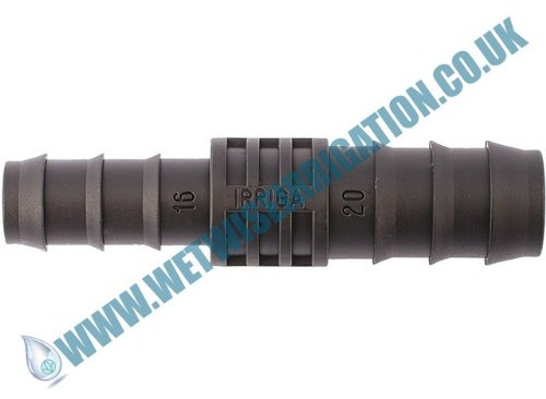 Pipe Fitting - 16mm - 25mm Barbed Straight Reducing Connector (2 pack), Irrigation Pond Feature