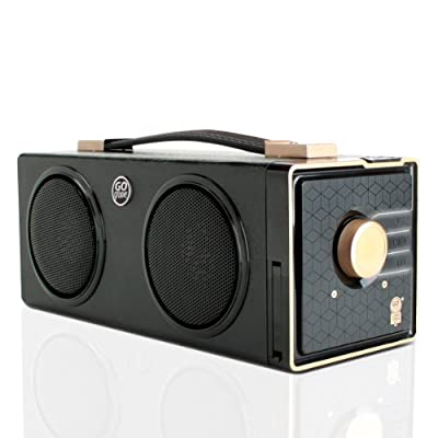 GOgroove SonaVERSE BXL Portable Speaker Boombox w/ 7-Hour Rechargeable Battery , Dual Stereo Drivers and 3.5mm AUX Port for Smartphones , Tablets , MP3 Players , Laptops , Portable DVD Players & More!