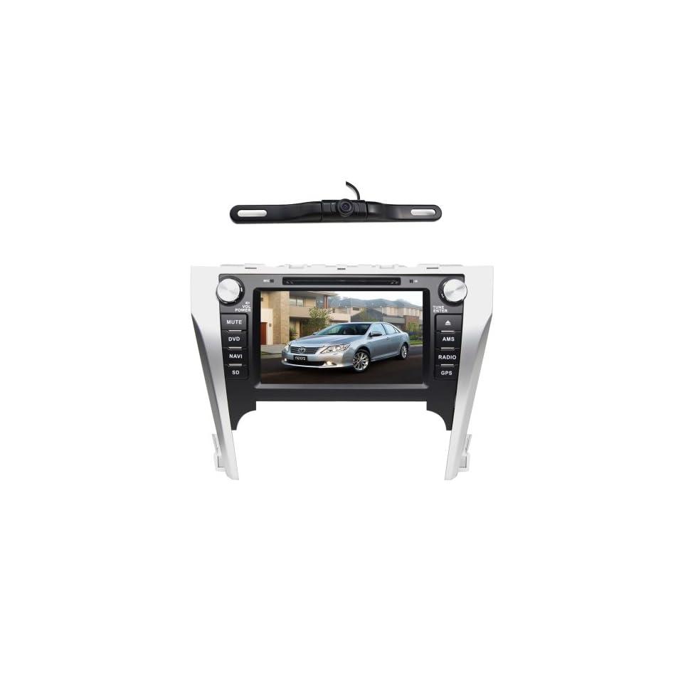 BlueLotus® In dash 8 Car DVD GPS Navigation for Toyota Camry 2012 Asian Version w/ Tv Radio Bluetooth Steering Wheel Control RDS Sd/usb Av + Reverse Car Rear Camera + Free USA Map