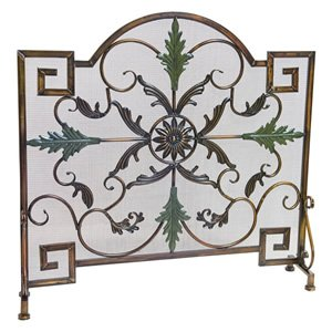 Buy Arched Single Panel Antique Copper & Patina Fireplace Screen