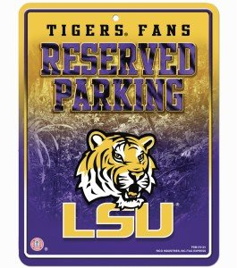 NCAA LSU Tigers Parking Sign at Amazon.com