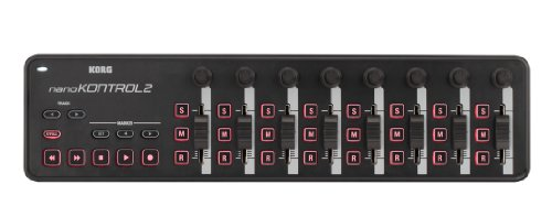 KORG nanoKONTROL2, USB-MIDI-Controller mit 8 Kanälen (8 Fader und 8 Drehregler)