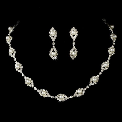 Bridal Jewelry Set Austrian Crystal Rhinestone