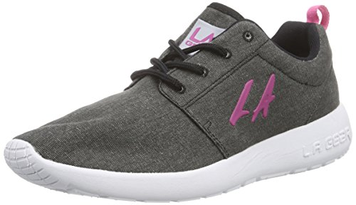 L.A. Gear Sunrise, Low-Top Sneaker donna, Multicolore (Schwarz (Black-Pink 05)), 37
