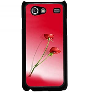 Casotec Red Roses Design 2D Hard Back Case Cover for Samsung Galaxy S Advance i9070 - Black