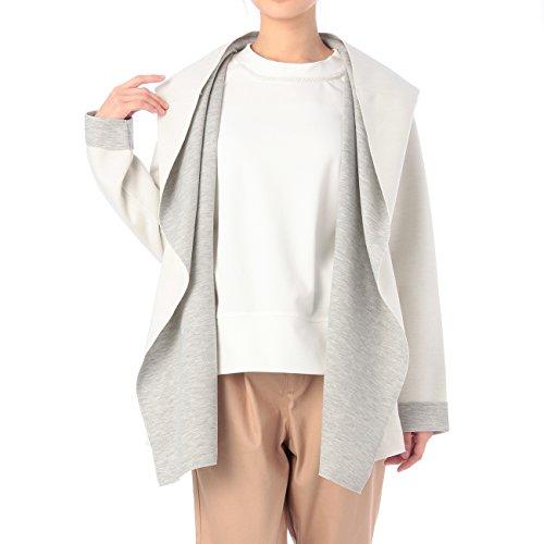 (ハッシュアッシュ)HusHusH ビックフードフリル開き配色ジャケット ホワイト(001) 03(L)