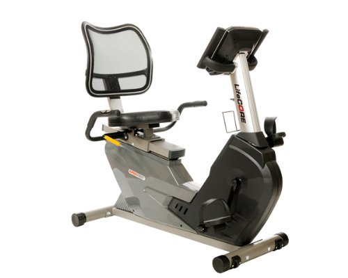 Lifecore Fitness Compact Self Powered  Recumbent Bike with  Mesh Seat Back