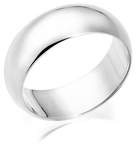 10k White Gold 8mm Traditional Men's Wedding Band