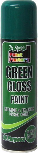 Green Gloss Spray Paint Interior & Exterior 250ml Can