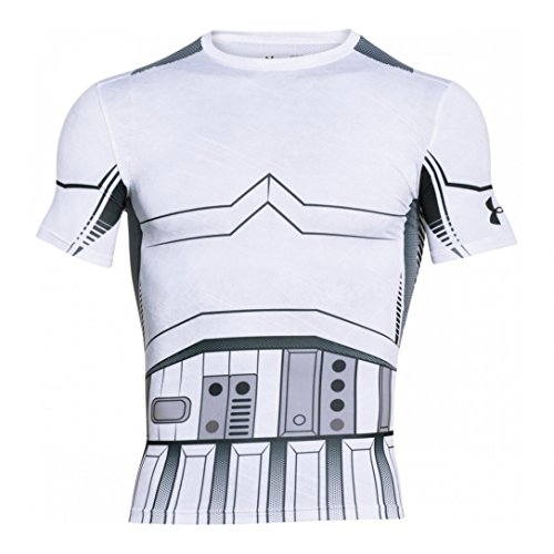 Under Armour Trooper Full Suit Compression Short Sleeve Shirt white-black - L