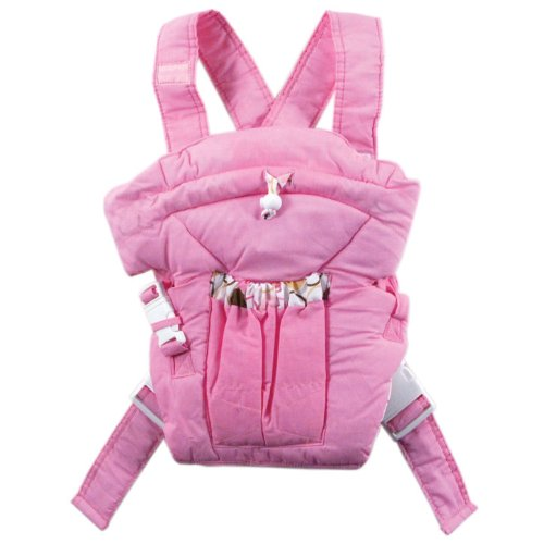 Luvable Friends Light Colors Soft Baby Carrier, Pink