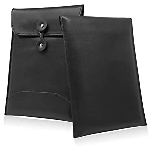 BoxWave Onyx International Boox 60 Case - BoxWave Nero Onyx International Boox 60 Leather Envelope (Premium Synthetic Leather Carrying Sleeve) at Electronic-Readers.com