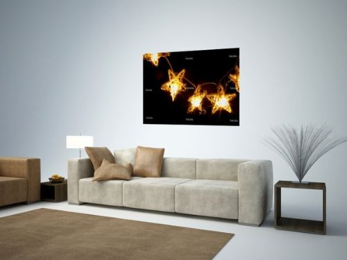 'Lichterkette' Wall Decal – 48″W x 36″H Removable Graphic