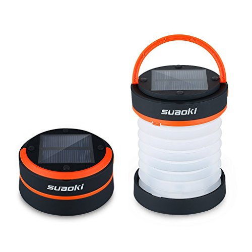 Suaoki-Led-Camping-Lantern-Lights-Rechargeable-Battery-Powered-By-Solar-Panel-and-USB-Charging-Collapsible-Flashlight-for-Outdoor-Hiking-Tent-Garden-Emergency-Charger-for-Phone-Water-Resistant