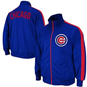 MLB Chicago Cubs Pinch Hitter Track Jacket Mitchell Ness Cooperstown 2XL Mens by Mitchell & Ness