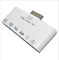 Apple iPad 2 6 in 1 Card Reader Camera Connection Kit AV Cable