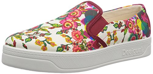 Desigual SHOES ABRIL, Low-Top Sneaker donna, Rosso (Rot (3037)), 38