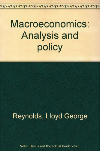 Macroeconomics: Analysis and policy