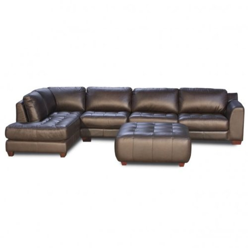 Zen Collection Left Facing Chaise 2PC Sectional with Armless Chair and Square Cocktail Ottoman by Diamond Sofa