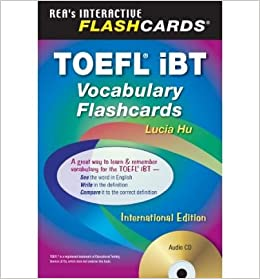 toefl ibt vocabulary flashcard book w audio cd english