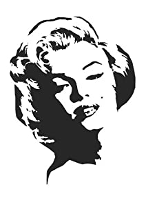 MARILYN MONROE Airbrush  Wall  Marilyn Monroe Face Stencil