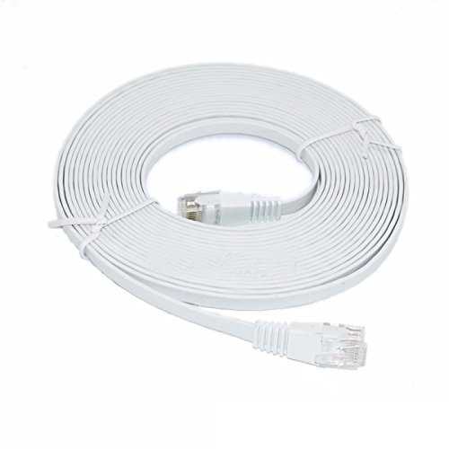 C&E 35-Feet Premium Ultra CAT6 550 MHz Flat Patch Cable, White (CNE52862) (Ethernet Cable 35 compare prices)