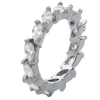 Size 7 - 3.00 Ct Marquise Eternity Band Cubic Zirconia Cz Wedding Ring