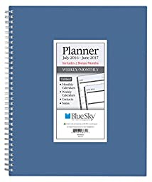 Blue Sky 2016-2017 Academic Year Weekly & Monthly Planner, Wire-O Binding, 8.5\